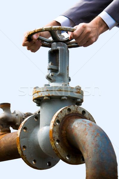 Business metaal mannelijke handen Stockfoto © pressmaster