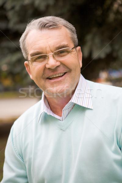 Foto d'archivio: Senior · uomo · ritratto · maschio · sorridere