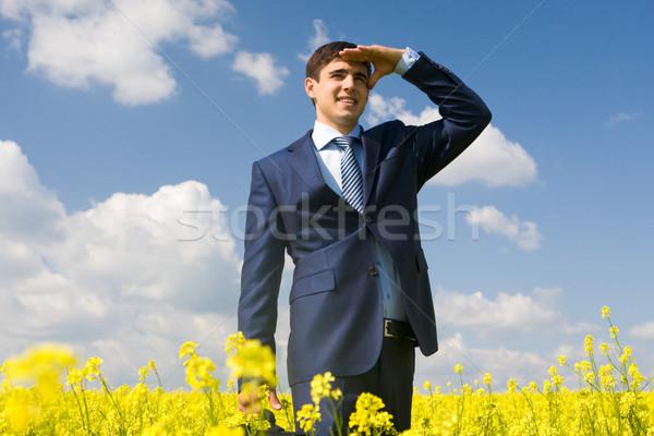 Przystojny pracodawca portret udany mężczyzna patrząc Zdjęcia stock © pressmaster