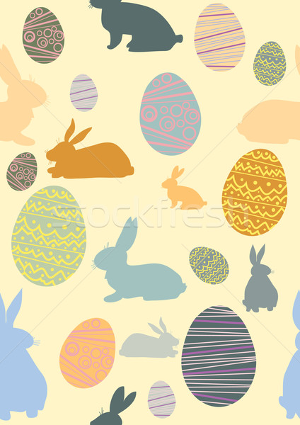 パターン 卵 鶏 ウサギ イースター デザイン ストックフォト © pressmaster