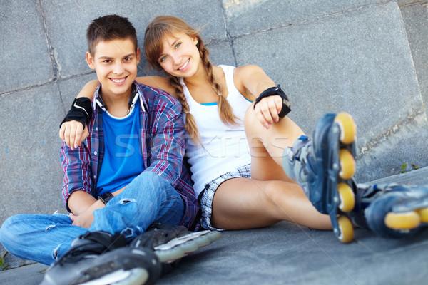 Two roller skaters Stock photo © pressmaster