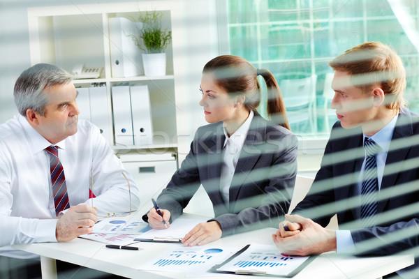 Planning werk portret drukke mensen bespreken Stockfoto © pressmaster