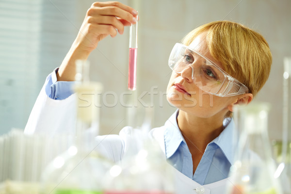 Pensive chemist  Stock photo © pressmaster