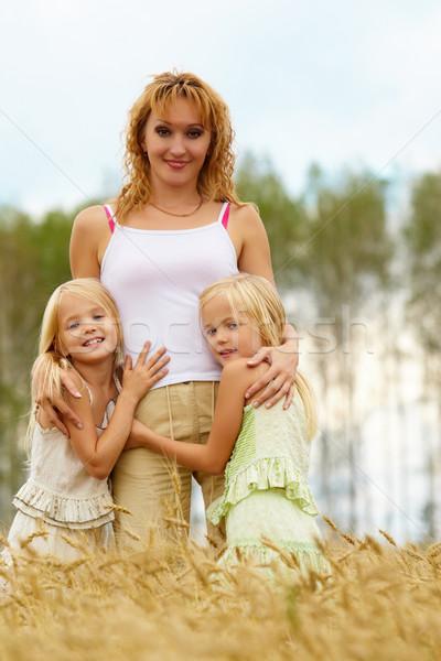 ストックフォト: 連帯感 · 肖像 · かわいい · 双子 · 母親