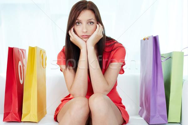 Estresante compras retrato jóvenes morena Foto stock © pressmaster