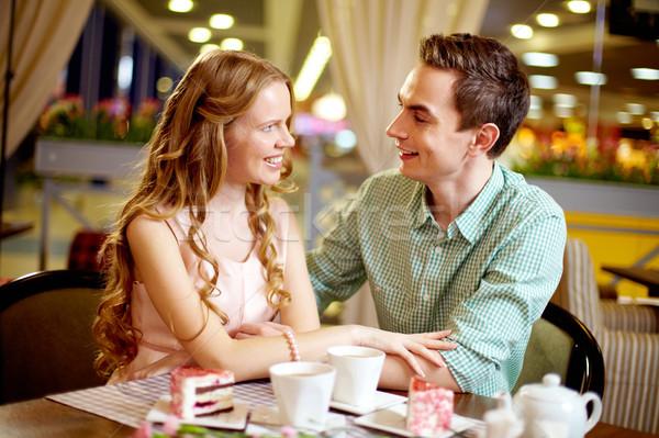 Photo stock: Heureux · temps · jeunes · amour · ensemble