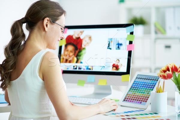 Designer at work Stock photo © pressmaster