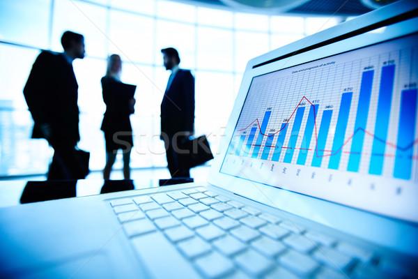 Photo stock: électronique · informations · financière · document · portable · trois