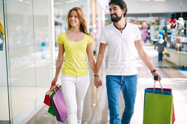 Stock photo: Contemporary shoppers