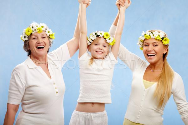 ストックフォト: リーダー · 画像 · 祖母 · 母親 · 女の子 · 顔