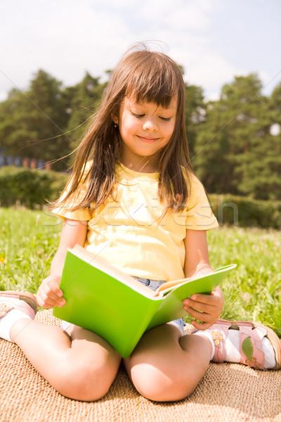 Stock photo: Reading girl