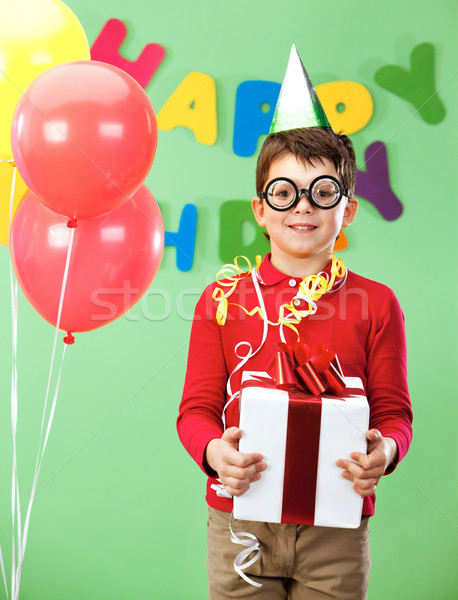 Boy with giftbox Stock photo © pressmaster