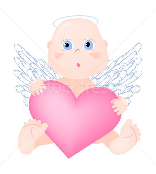 Angel-with-big-heart Stock photo © pressmaster