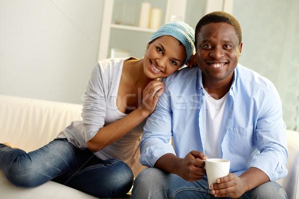 Photo stock: Unité · image · jeunes · africaine · couple · regarder