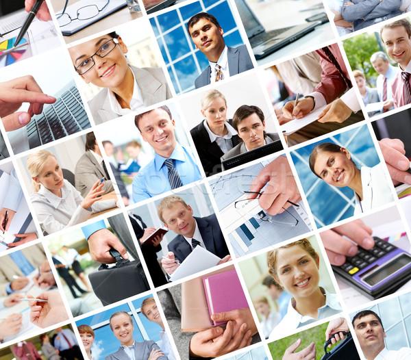 ストックフォト: ビジネス · 瞬間 · コラージュ · オブジェクト · 異なる