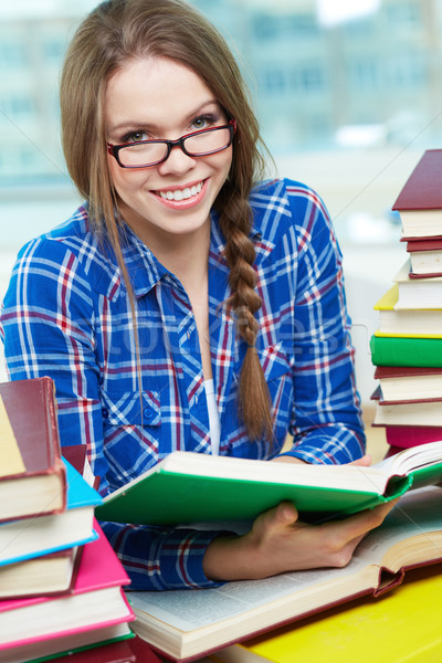 Student with book Stock photo © pressmaster