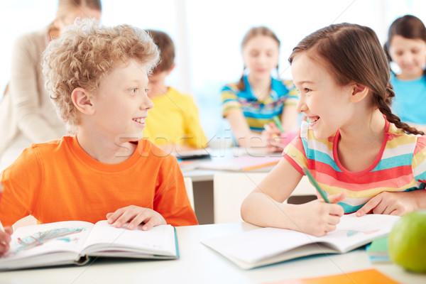 Friends at lesson Stock photo © pressmaster