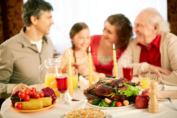 Festività immagine tavola famiglia mela Foto d'archivio © pressmaster