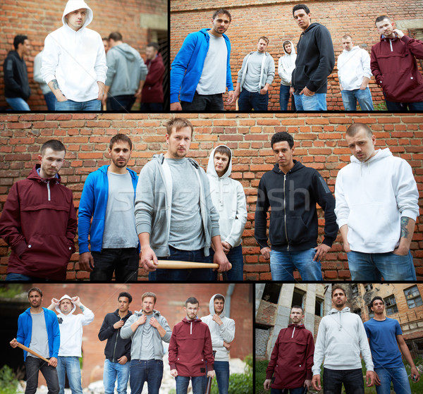 Group of gangsters Stock photo © pressmaster