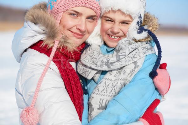 Genegenheid gelukkig vrouw zoon naar camera Stockfoto © pressmaster