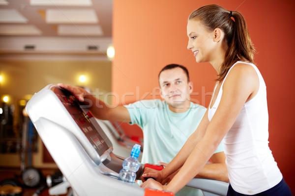 фитнес инструктор подготовки клуба человека Сток-фото © pressmaster