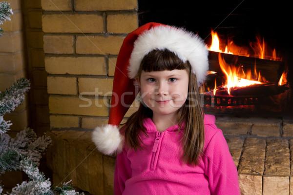 Little Santa girl Stock photo © pressmaster