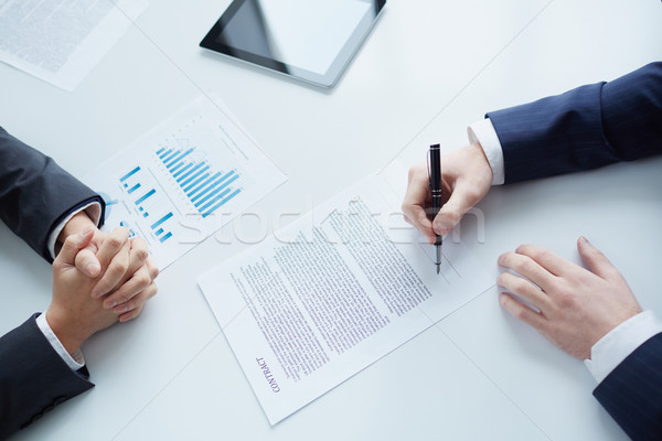 Concluding agreement Stock photo © pressmaster