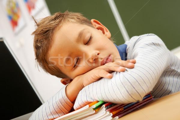 Tired boy Stock photo © pressmaster