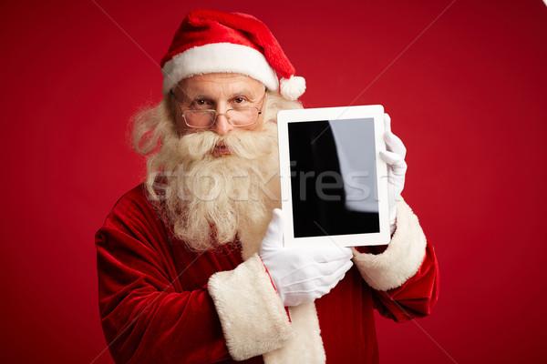Mikulás touchpad portré mikulás érintőképernyő néz Stock fotó © pressmaster