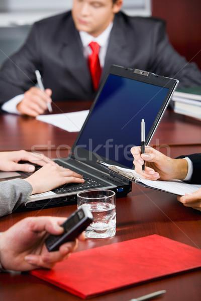 Quebrar conferência empresas pessoas comprometido negócio Foto stock © pressmaster