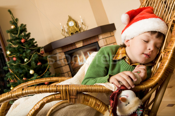 Dream on Christmas night Stock photo © pressmaster
