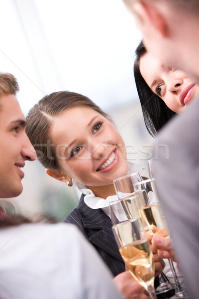 Toasting female Stock photo © pressmaster