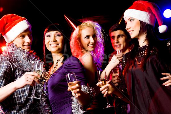 Navidad alegría retrato moderna jóvenes personas Foto stock © pressmaster