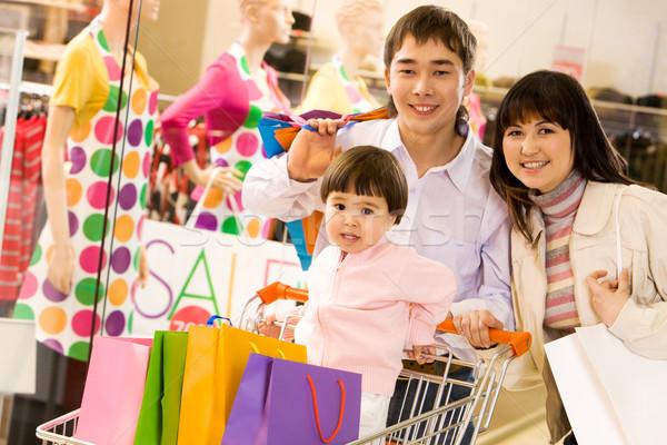 Happy shopaholics Stock photo © pressmaster