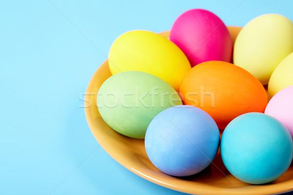 Gelenek geleneksel yumurta Paskalya bahar Stok fotoğraf © pressmaster