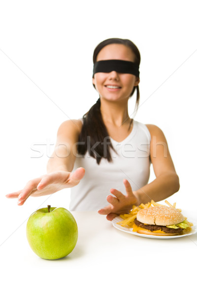 Stock photo: Choosing healthy food