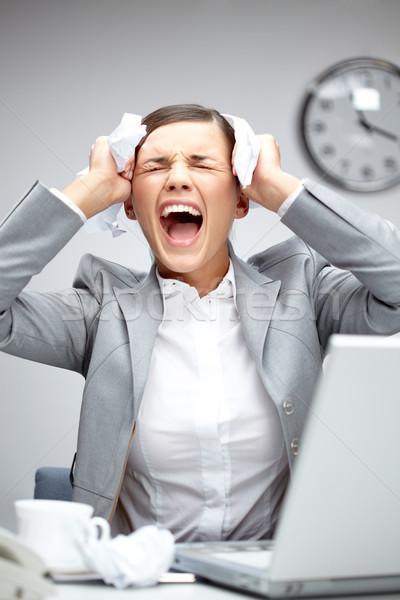 изображение молодые работодатель прикасаться голову разочарование Сток-фото © pressmaster