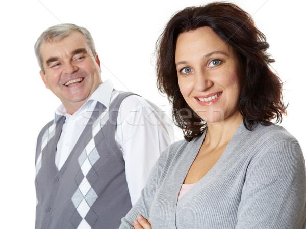 Boldog házastárs közelkép nő férj néz Stock fotó © pressmaster