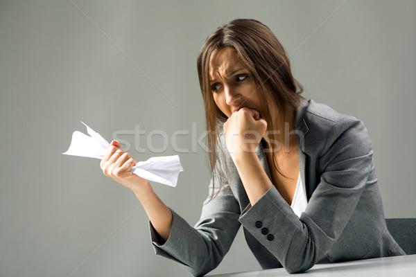 Chateado secretário foto deprimido feminino negligenciadas Foto stock © pressmaster