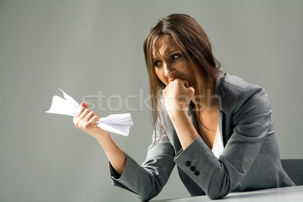 Upset secretary Stock photo © pressmaster