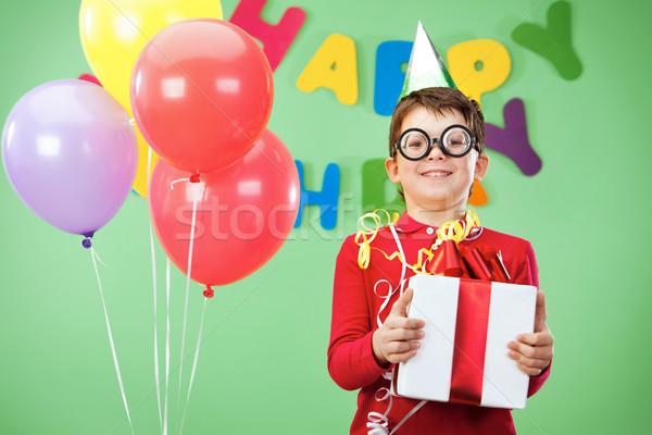 Feliz chico retrato funny fiesta de cumpleaños Foto stock © pressmaster