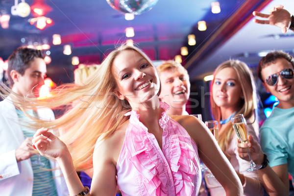 ストックフォト: エネルギッシュな · ダンス · 肖像 · 少女 · ダンス · パーティ