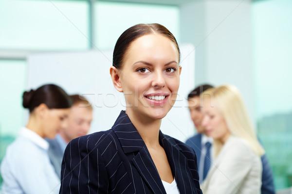 Stockfoto: Mooie · leider · portret · smart · werkgever · naar