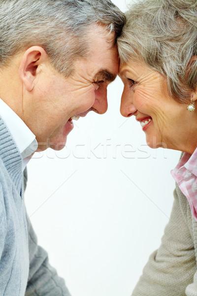Boldog kopott pár idős nő férfi Stock fotó © pressmaster