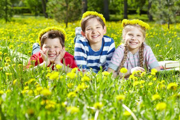одуванчик лет портрет детей Сток-фото © pressmaster