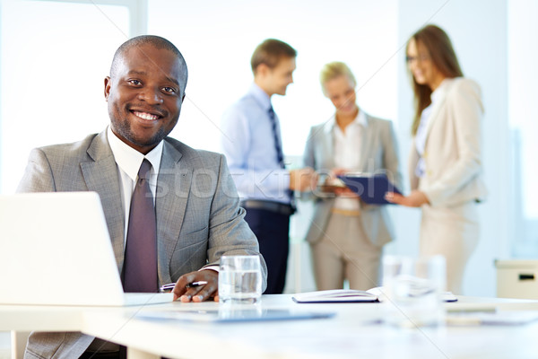 Stockfoto: Business · werknemer · portret · glimlachend · zakenman · corporate