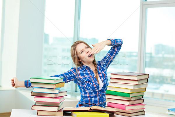 Learning till morning Stock photo © pressmaster