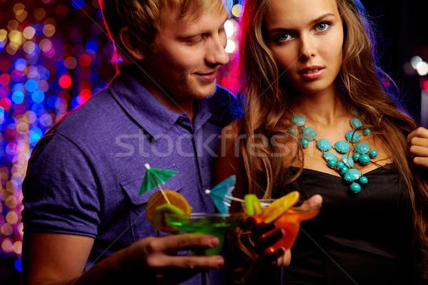 Unité image posh couple loisirs night-club Photo stock © pressmaster
