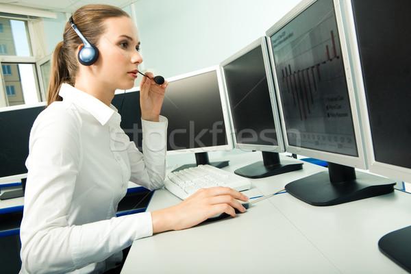 Stockfoto: Klantenservice · vertegenwoordiger · foto · mooie