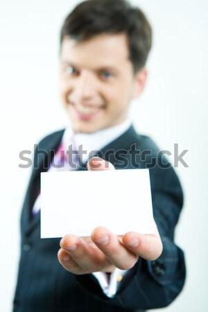 View of visiting card  Stock photo © pressmaster